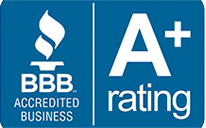 BBB Accredited business and A+ rating logo